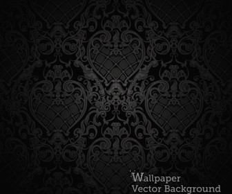 Seamless Wallpaper Dark Pattern