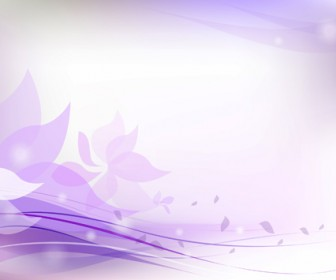 Purple Floral Background Vector Art
