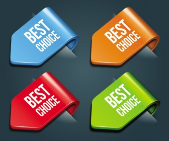 Pointing tag different color vector
