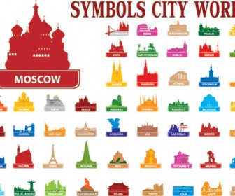 Colorful Silhouette City Pack