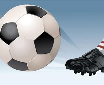 Playing Football Vector Illustrations