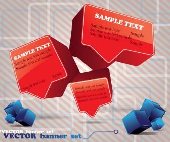 3D Bubble Text Vector Templates