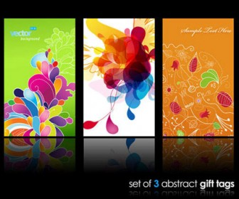 Set of Three Abstract Cover Art