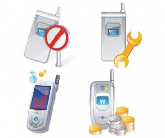Free stock vector design elements 3D set icon telephone 42