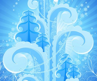 Abstract Winter Background Vector Artwork