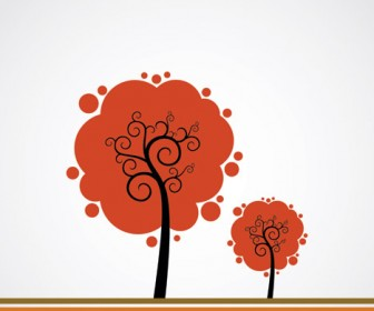 Season Autumn Tree Vector Art