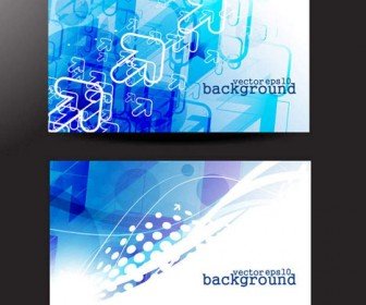 Blue Business Card Vector Background