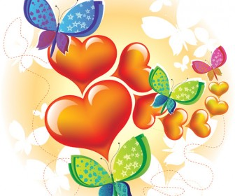 Love Butterfly Vector Background