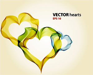 Illustration Abstract Heart Vector Background