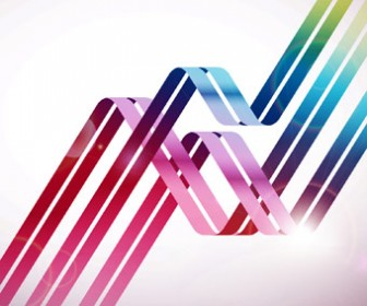 Stock Colorful Lines Background
