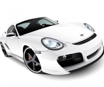Realistic Porsche Car Vector