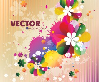 Spring Floral Background Vector Art