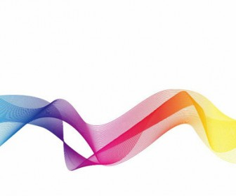 Colorful Curve Abstract Illustration