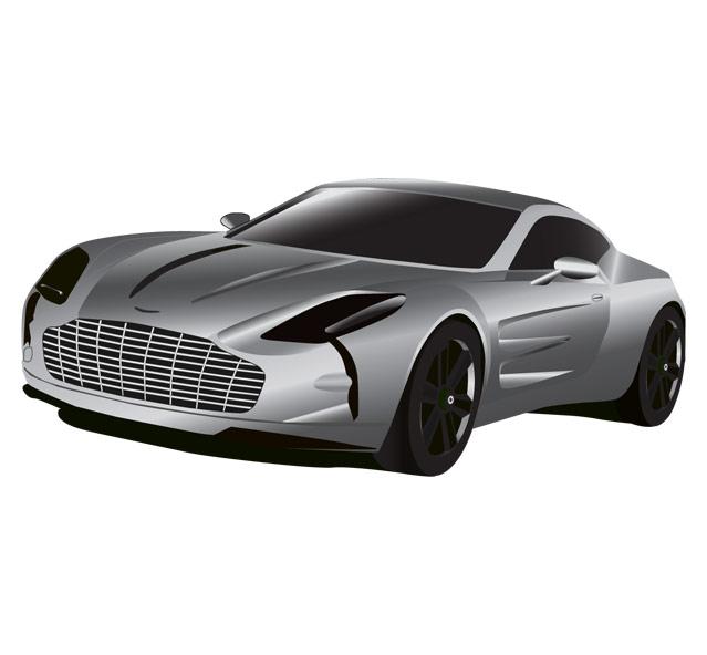 Aston Martin Car Illustration Vector