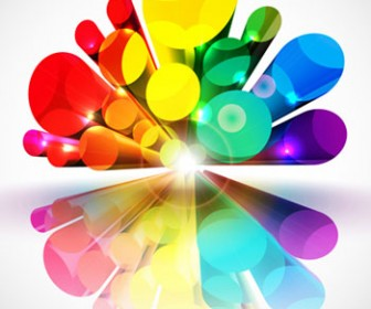 3D Tube colorful background