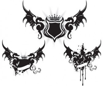 Dragon Wings Tattoo Vector Art