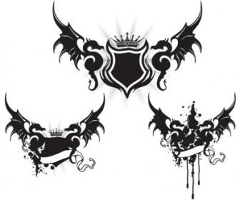 Dragon Wings Tattoo Vector Art