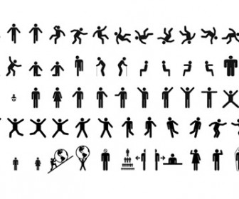 Vector Sign Pictogram Silhouettes