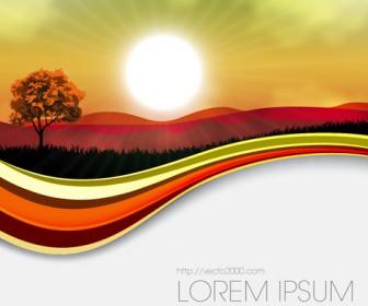 Summer Landscape Cover Vector