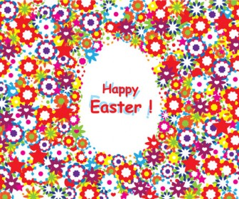 Happy Easter Colorful Background