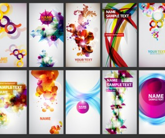 Abstract Colorful Business Cards