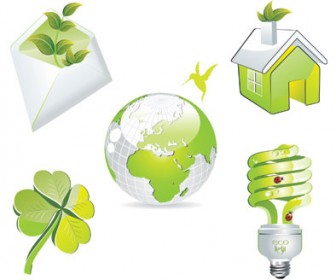 Green Eco Symbols Illustration