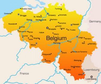 Belgium World Map
