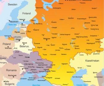 World Map Western Russia