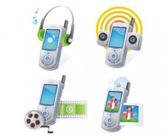 Free stock vector design elements 3D set icon telephone 40