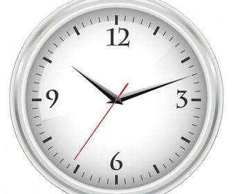 White office clock