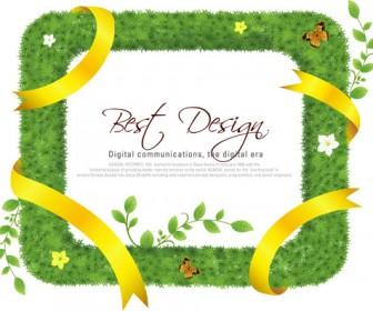 Grass Frame Cover Art Vector