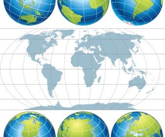 Globe Map Pack
