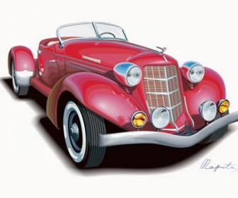 Vintage Car Illustration Vector Art