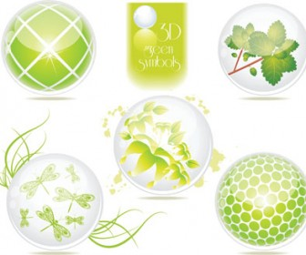 Green Eco Symbols Vector Pack