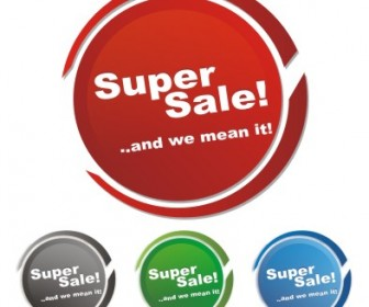 Tag supersale vector