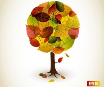 Autumn Tree Illustration Vector Graphics