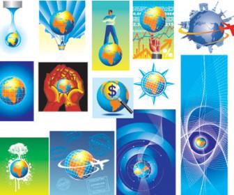 Globe Illustration Vector Set