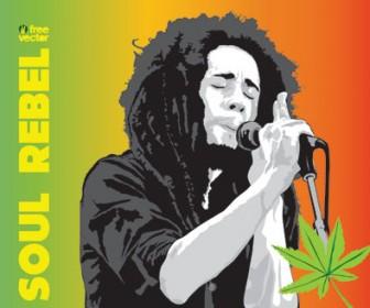 Free Vector Bob Marley Poster