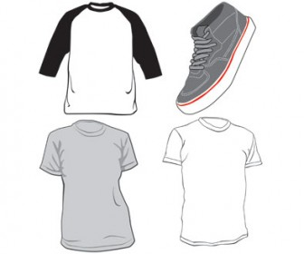 Free Vector Shirt and Shoe