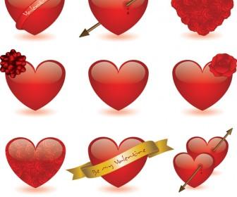 Valentine's Hearts Vector icons