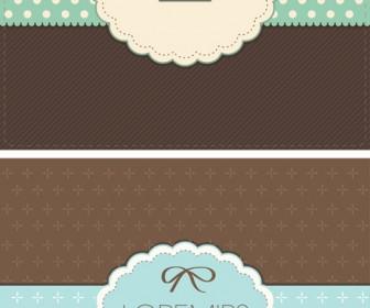 Retro Greeting Card Vector Template Design