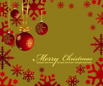 Christmas Greeting Card Illustration Vector Art