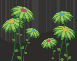 Green Leaf Flower vector art