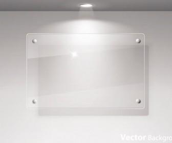 Glass Frame Exhibition Vector