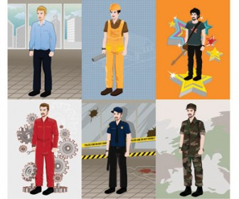 Illustration Professional People Vector Pack