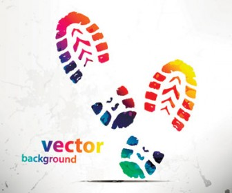 Vector Abstract Shoes background