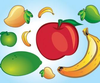 Fresh Fruit Vector Illustration