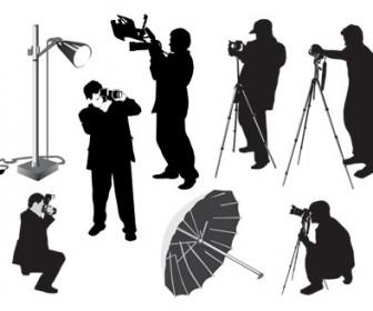 Silhouette Photographer Illustration