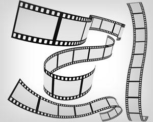 Stock vector Film strip 4 roll set