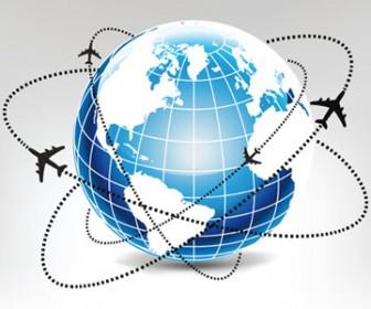 Global Airways Vector Illustration
